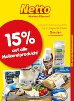 Aktueller Netto Marken-Discount Prospekt, 15% auf alle Molkereiprodukte, Seite 1