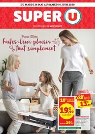 Catalogue Super U en cours, Pour elles, faites-leur plaisir tout simplement, Page 1