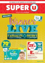 Catalogue Super U en cours, Winner live, Page 1