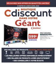 Catalogue Géant Casino en cours, Boutique Cdiscount dans vontre Géant Casino, Page 1