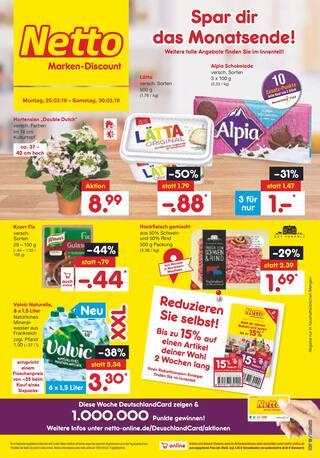 Aktueller Netto Marken-Discount Prospekt, Spar dir das Monatsende, Seite 1