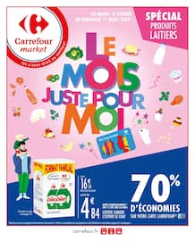 Catalogue Carrefour Market en cours, Le mois juste pour moi, Page 1