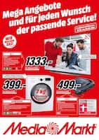 Aktueller MediaMarkt Prospekt, Mega Angebote und für jeden Wunsch der passende Service!, Seite 1