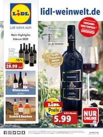 Aktueller Lidl Prospekt, Wein-Highlights Februar 2020, Seite 1