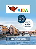 Aktueller AIDA Prospekt, Mittelmeer, Seite 1