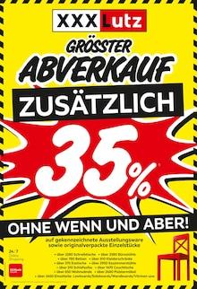 XXXLutz Möbelhäuser, GRÖSSTER ABVERKAUF - ZUSÄTZLICH 35% für Neubrunn