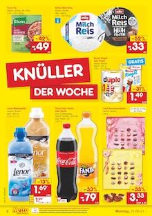Coca Cola im Netto Marken-Discount Prospekt DER ORT, AN DEM DU NACHHALTIGKEIT NICHT SUCHEN MUSST. auf S. 3