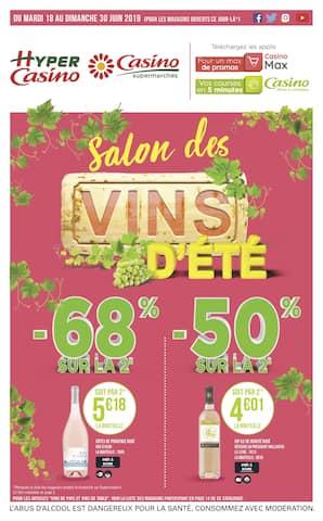 Catalogue Casino Supermarchés en cours, Salon des vins d'été, Page 1
