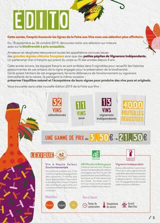 Catalogue Franprix en cours, De la vigne à la ville, Page 2