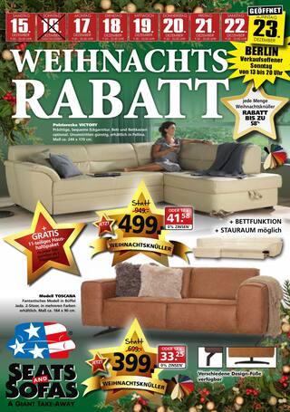 Aktueller Seats and Sofas Prospekt, Weihnachts-Rabatt, Seite 1