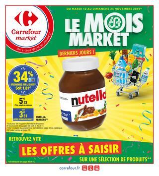 Catalogue Carrefour Market en cours, Le mois market !, Page 1