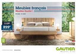 Catalogue Gautier en cours, Meublez français meublez Gautier !, Page 1