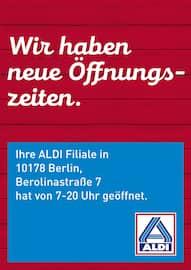 Aktueller ALDI Nord Prospekt, Neue Öffnungszeiten, Seite 1