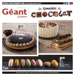 Catalogue Géant Casino en cours, Les semaines du chocolat, Page 1