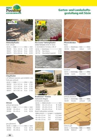 Aktueller Holz Possling Prospekt, Holz- & Baukatalog, Seite 86