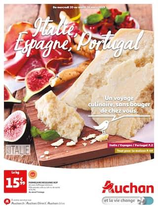 Catalogue Auchan en cours, Italie, Espagne, Portugal, Page 1