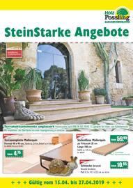 Aktueller Holz Possling Prospekt, SteinStarke Angebote, Seite 1