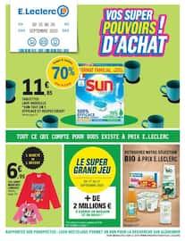 Catalogue E.Leclerc en cours, Vos super pouvoir d'achat!, Page 1