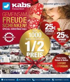 Aktueller Kabs Polsterwelt Prospekt, Christmas Sale, Seite 1