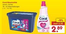 Waschmittel von Coral im aktuellen Netto Marken-Discount Prospekt für 2.89€