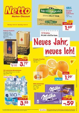 Aktueller Netto Marken-Discount Prospekt, Neues Jahr, neues Ich!, Seite 1