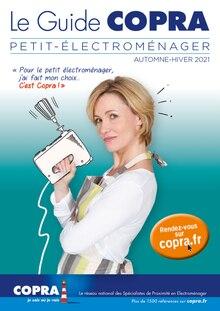 """Copra Catalogue """"Le guide Copra: petit-électroménager"""", 60 pages, Draveil,  06/10/2021 - 31/12/2021"""
