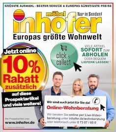 Aktueller Möbel Inhofer Prospekt, Jetzt online 10% Rabatt zusätzlich auf diese Prospektartikel und viele weitere!, Seite 1
