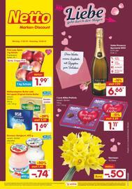 Aktueller Netto Marken-Discount Prospekt, Liebe geht durch den Magen, Seite 1
