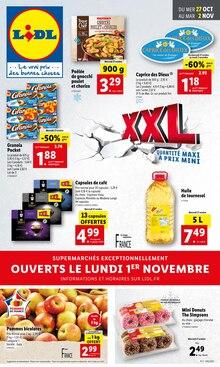 "Lidl Catalogue ""XXL"", 1 page, Strasbourg,  26/10/2021 - 02/11/2021"
