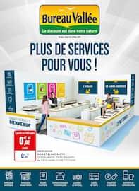 Catalogue Bureau Vallée en cours, Plus de services pour vous !, Page 1