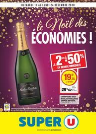 Catalogue Super U en cours, Le Noël des économies !, Page 1