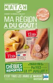 Catalogue Supermarchés Match en cours, Ma région a du goût !, Page 1