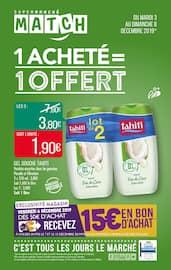 Catalogue Supermarchés Match en cours, 1 acheté = 1 offert, Page 1