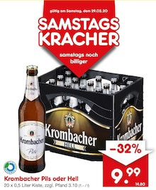 Bier von Krombacher im aktuellen Netto Getränke-Markt Prospekt für 9.99€