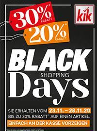 Aktueller KiK Prospekt, BLACK SHOPPING DAYS, Seite 1