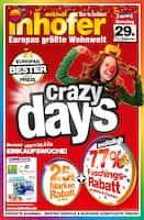 Aktueller Möbel Inhofer Prospekt, Crazy days, Seite 1