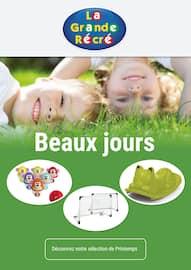 Catalogue La Grande Récré en cours, Beaux jours, Page 1