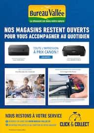 Catalogue Bureau Vallée en cours, NOS MAGASINS RESTENT OUVERTS POUR VOUS ACCOMPAGNER, Page 1