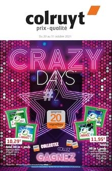 """Colruyt Catalogue """"Crazy days"""", 32 pages, Vermondans,  19/10/2021 - 31/10/2021"""
