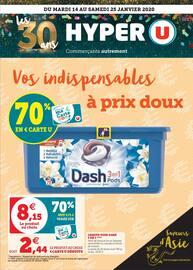 Catalogue Hyper U en cours, Vos indispensables à prix doux, Page 1