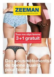 Catalogue Zeeman en cours, Des sous-vêtements de bonne qualité pour toutes., Page 1
