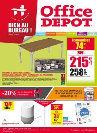Catalogue Office DEPOT en cours, Promos mobilier, fournitures ! Soyez bien au bureau !, Page 1