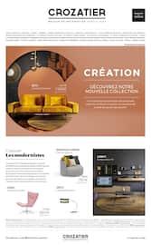 Catalogue Crozatier en cours, Création : découvrez notre nouvelle collection, Page 1