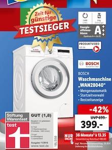 Waschmaschine von BOSCH im aktuellen Lidl Prospekt für 399€