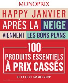 Catalogue Monoprix en cours, Happy Janvier - Après la neige viennent les bons plans, Page 1