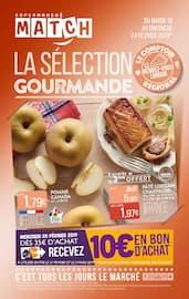 Catalogue Supermarchés Match en cours, La sélection gourmande, Page 1