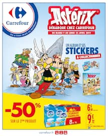 Catalogue Carrefour en cours, Astérix débarque chez Carrefour, Page 1