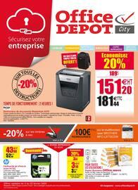 Catalogue Office DEPOT en cours, Sécurisez votre entreprise avec les essentiels en promos !, Page 1