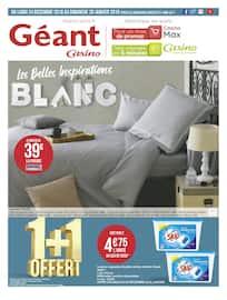 Catalogue Géant Casino en cours, Les Belles Inspirations Blanc, Page 1