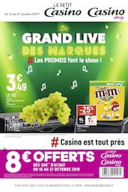 Catalogue Casino Shop en cours, Le grand live des marques #Les promos font le show ! !, Page 1